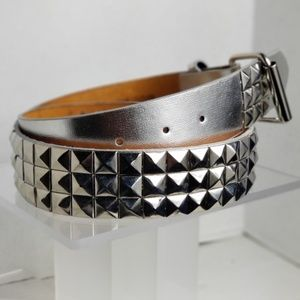 Other - Unisex Silver Studded Belt Removable Buckle